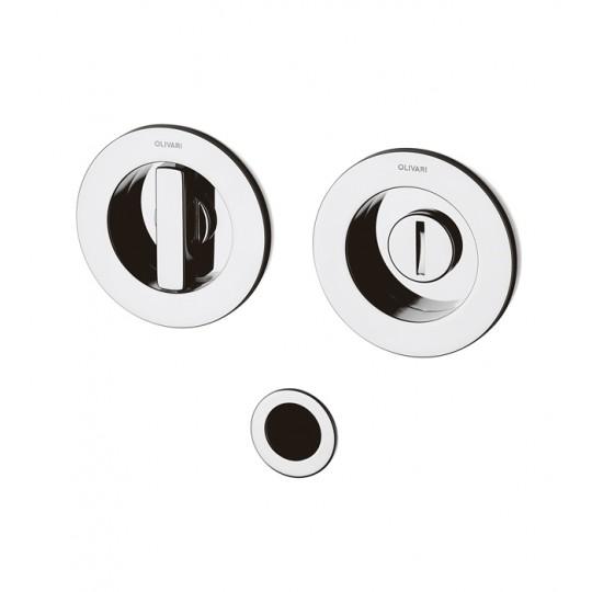 Zestaw Dante D132 2 uchwyty okrągłe z pokrętłem WC + naparstek