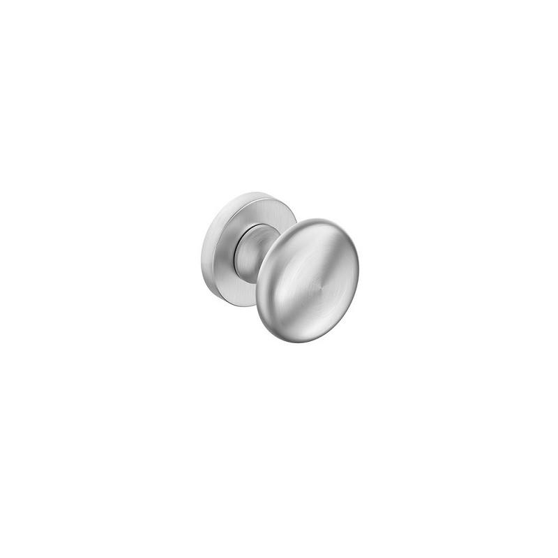 Gałka Orbis R z okrągłym szyldem chrom szczotkowany