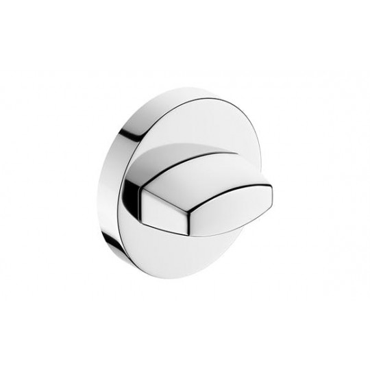 Rozeta WC chrom do klamek okrągły szyld