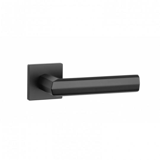 Klamka Aprile Fresia Q slim szyld kwadratowy 7mm BK czarny