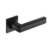 Klamka Royal Slim szyld płaski kwadratowy, czarny