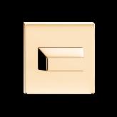 Szyld kwadratowy Slim WC, mosiądz błyszczący