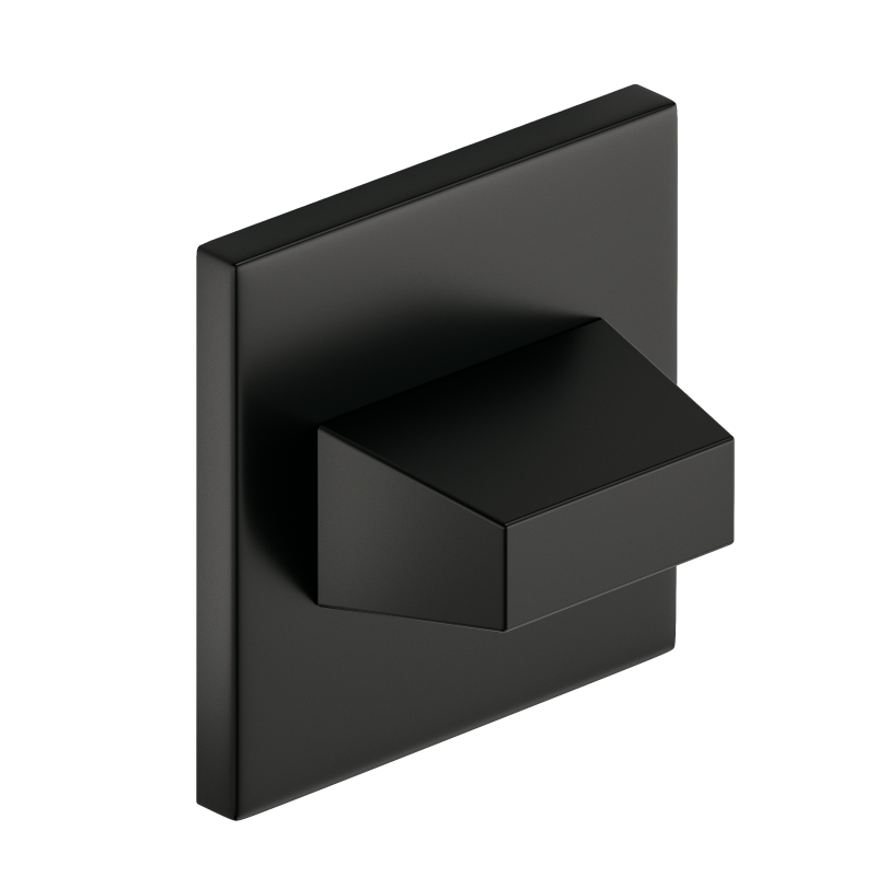 Szyld kwadratowy Slim WC, czarny