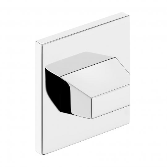 Szyld kwadratowy Slim WC, chrom błyszczący