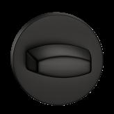Szyld okrągły Slim WC, czarny