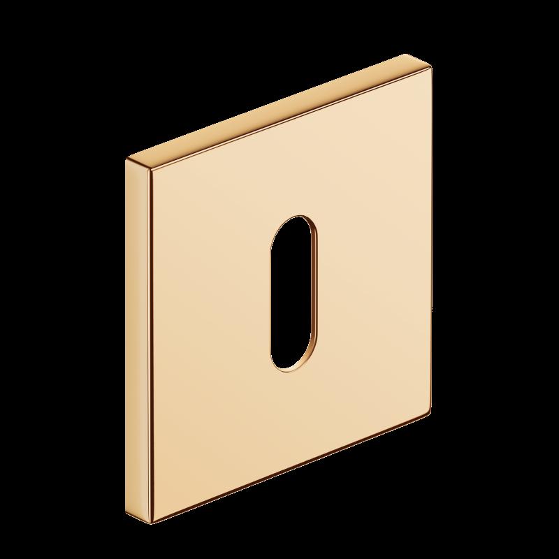 Szyld kwadratowy Slim na klucz, mosiądz błyszczący