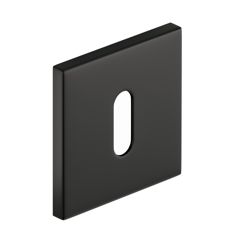 Szyld kwadratowy Slim na klucz, czarny