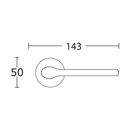 Klamka Convex 1515 chrom