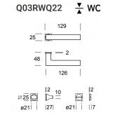 Klamka Geneve Q03 (Minimal Q22) stal nierdzewna