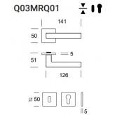 Klamka Geneve Q03 (Slim Q01) stal nierdzewna