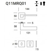 Klamka Nizza Q11 (Slim Q01) kolor czarny