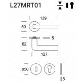 Klamka Samos L27 stal nierdzewna