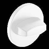 Szyld okrągły Slim WC, biały