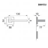 Klamka BIMYOU Manital kwadratowa rozeta BIA biały