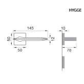 Klamka HYGGE Manital kwadratowa rozeta BIA biały