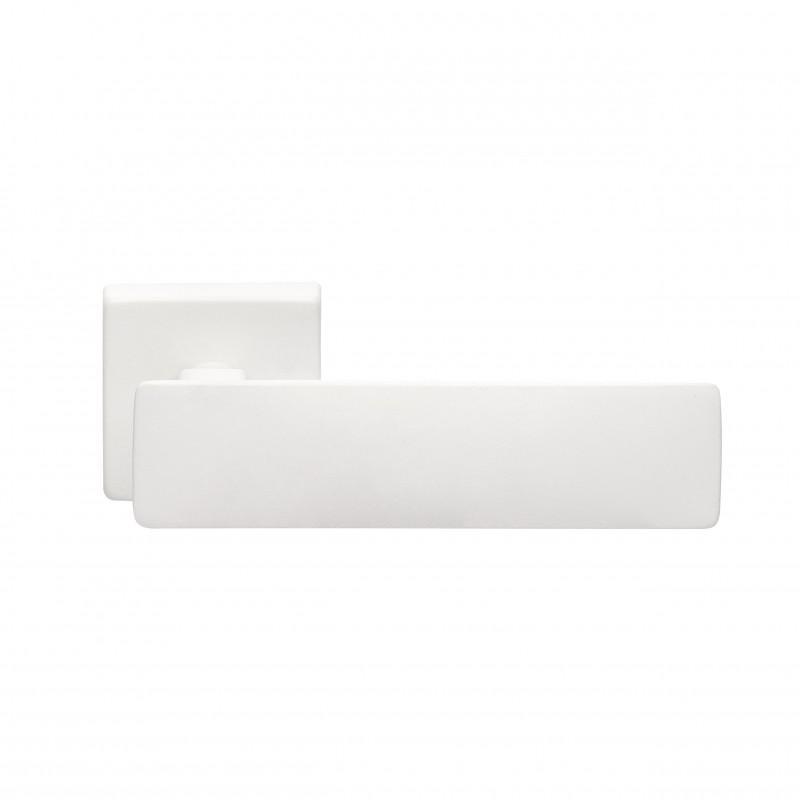 Klamka SPRING Manital kwadratowa rozeta BIA biały