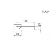Klamka FLASH Manital kwadratowa rozeta BIA biały