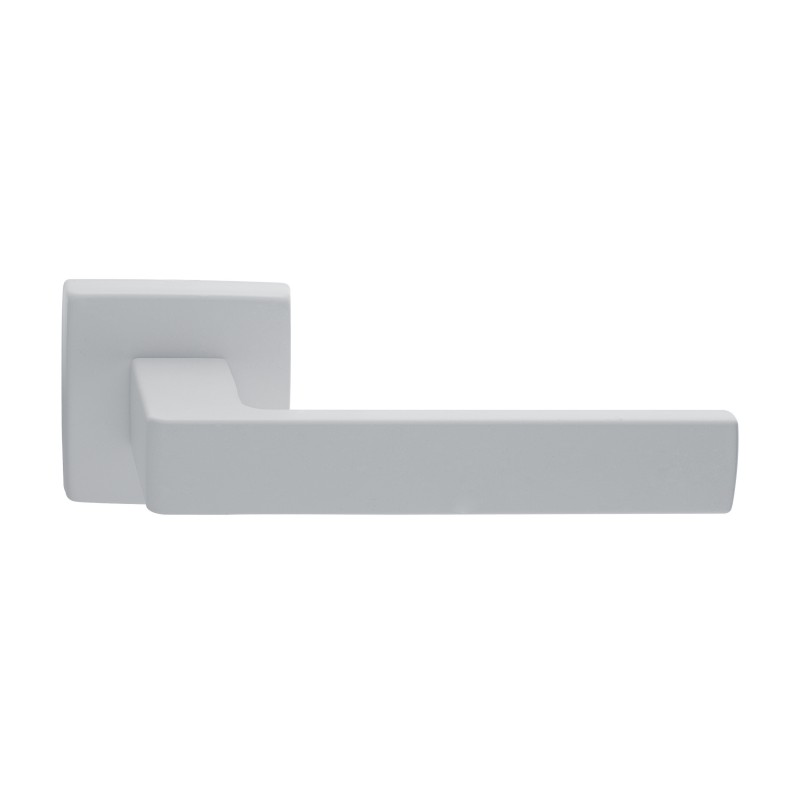 Klamka TECHNA Manital kwadratowa rozeta BIA biały