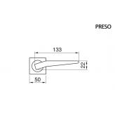 Klamka PRESO Manital kwadratowa rozeta CRO chrom błyszczący