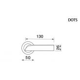 Klamka DOTS3 Manital okrągła rozeta CSA chrom satyna wstawka NERO