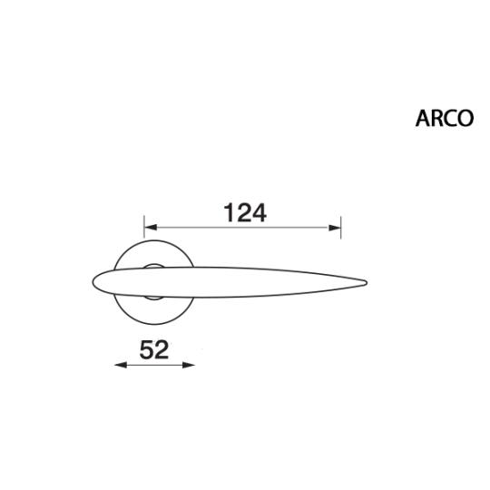 Klamka ARCO Manital okrągła rozeta OSA mosiądz satyna
