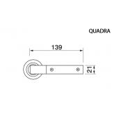 Klamka QUADRA Manital okrągła rozeta CRO chrom błyszczący wstawka NERO