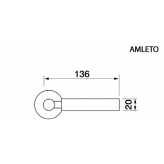 Klamka AMLETO Manital okrągła rozeta CSA/CRO chrom