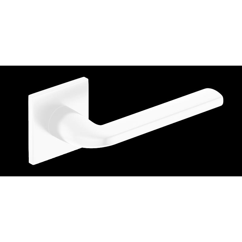 Klamka Scandi Slim szyld płaski kwadratowy, biały