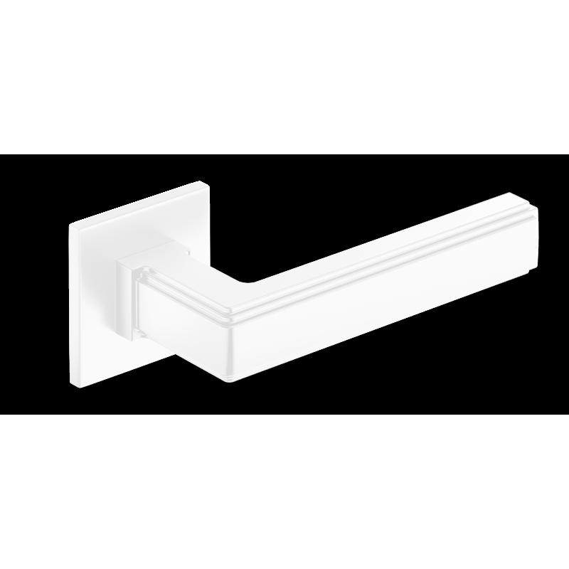 Klamka Royal Slim szyld płaski kwadratowy, biały