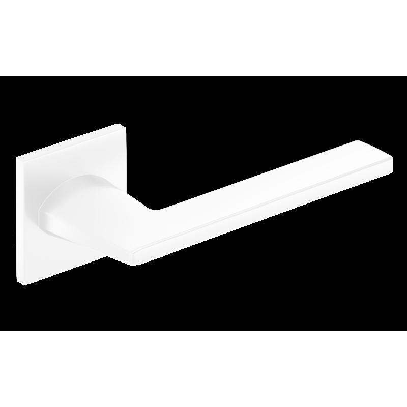 Klamka Harmony Slim szyld płaski kwadratowy, biały
