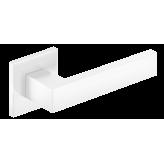 Klamka Focus Slim szyld płaski kwadratowy, biały