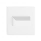 Szyld kwadratowy Slim WC, biały