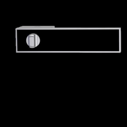 Klamka Frame WC velvet szary - bez wypełnienia