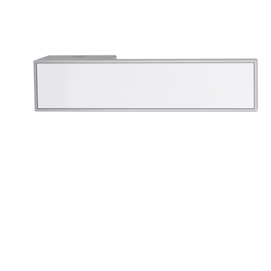 Klamka Frame velvet szary ze wstawką RAL 9010