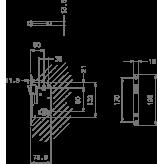 Zamek magnetyczny 2869 90 do WC czarny