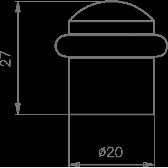 Odbój drzwiowy 115 Tupai 96 chrom szczotkowany