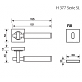 Klamka H 377 SL Fusital ciemny brąz