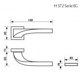 Klamka H 372 Fusital chrom błyszczący