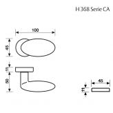 Klamka H 368 Fusital chrom błyszczący