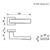 Klamka H 367 Fusital chrom błyszczący