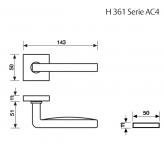 Klamka H 361 Fusital chrom błyszczący