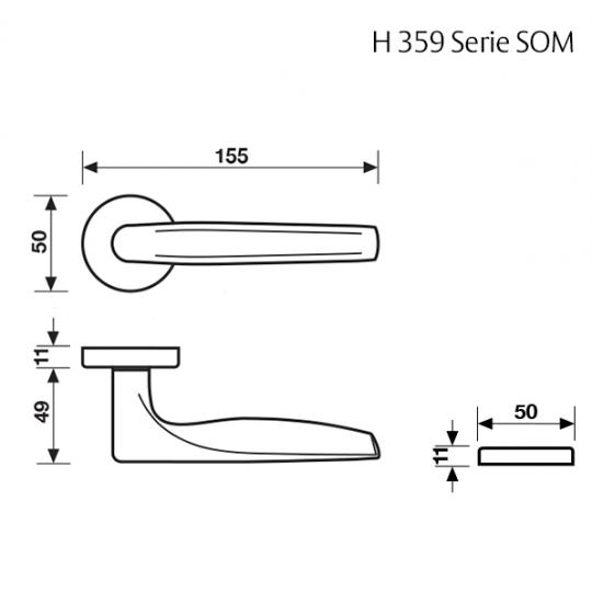 Klamka H 359 Fusital chrom błyszczący