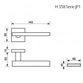 Klamka H 358 Fusital chrom błyszczący