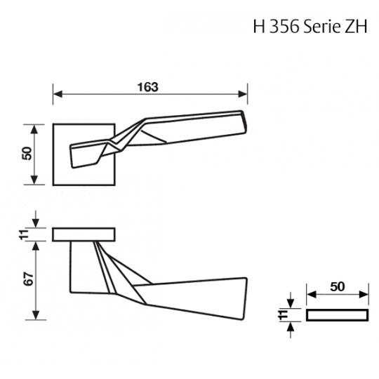 Klamka H 356 Fusital chrom błyszczący