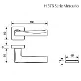Klamka H 376 Fusital chrom błyszczący