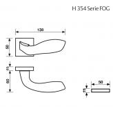 Klamka H 354 Fusital chrom błyszczący