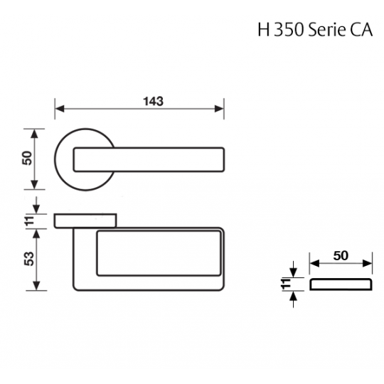 Klamka H 350 Fusital chrom satyna