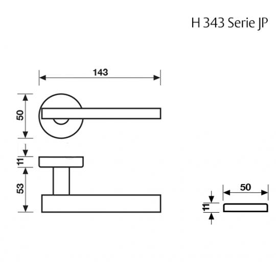 Klamka H 343 Fusital chrom błyszczący