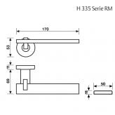 Klamka H 335 Fusital chrom błyszczący