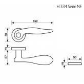 Klamka H 334 Fusital chrom satyna